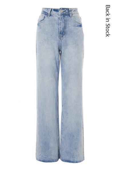 Blue Denim Dad Jeans